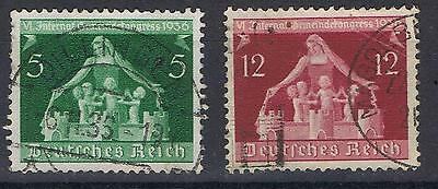 Germany 1936 Local Governnment 5pf and 12pf SG 614, 616 Mi 617, 619 Used