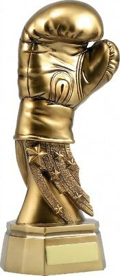 Boxing Glove Gold Trophy 160mm ENGRAVED FREE