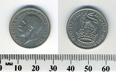 Great Britain 1929 - 1 Shilling Silver Coin - George V - Lion atop crown - #2