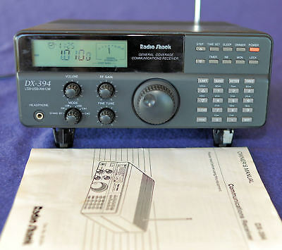 Radio Shack DX-394 multi-band receiver with manual