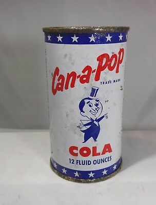 CAN-A-POP Cola Vintage Flat Top Soda Can