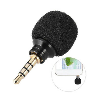 Black Mini Stereo Microphone 3.5mm Mic For Laptop Notebook Mobile Cell Phone 1pc