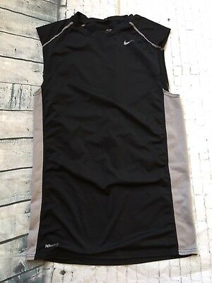Men's Nike Pro FIT Dry Sleeveless Tank Top Size Large Black Grey Athletic