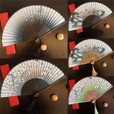 Fashion Antique Folding Female Fan Classical Mixed Decoration Home Furnishing AT