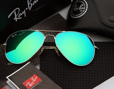 Rayª Banª 3025 Sunglasses Aviator Style Gold Frame Green Mirror Lens 58Mm