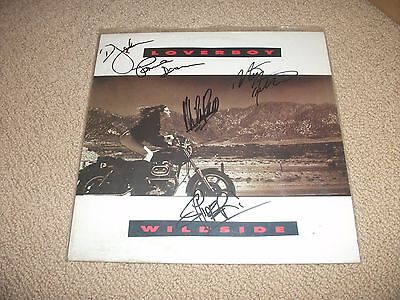 Loverboy - Wildside Vinyl LP Record *Band Signed* Mike Reno
