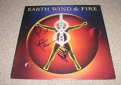Earth Wind And Fire - Powerlight Vinyl Lp Record *signed* Phillip Bailey