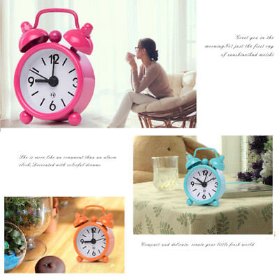 Durable Mini Metal Small Alarm Clock Fashion Student Electronic Clock Gift UK