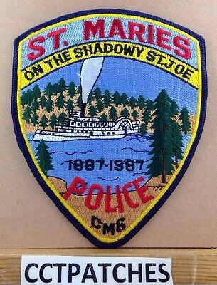 St. Maries, Idaho Police Centennial 1887-1987 Shoulder Patch Id