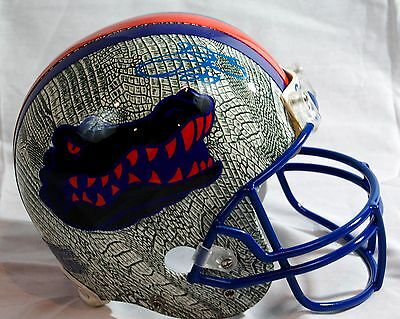 Emmitt Smith Custom Florida Gators Signed Full Size Helmet JSA