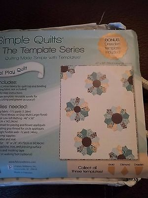Simple Quilts - Petal Play -Dresden Template Included  - 100% Cotton Fabric