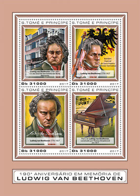 Z08 IMPERF ST17406a Sao Tome and Principe 2017 Ludwig van Beethoven MNH Mint