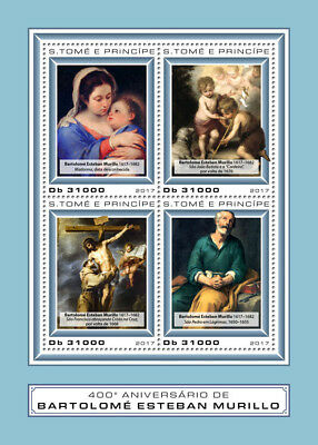 Z08 IMPERF ST17407a Sao Tome and Principe 2017 Esteban Murillo MNH Mint