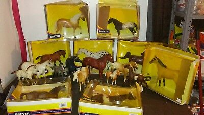 Lot Of 18 BREYER  Mixed Variety Sizes Colors Horse Figurines all marked Breyer