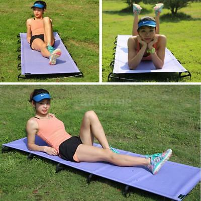 Portable Off-Ground Folding Cot Bed Outdoor Ultralight Camping Sleeping Bed D6R4