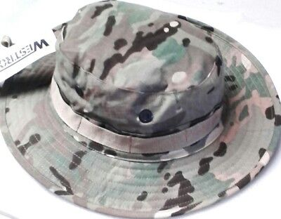 Multicam Boonie / Bush Hats - Small /med / Large - Double Layer Brim 100% Cotton