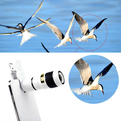 Universal Mobile Phone Clip-on 8x Optical Zoom HD Telescope Camera Lens US STOC