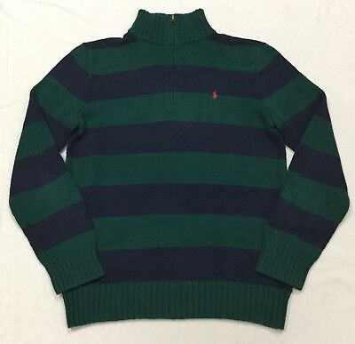 Polo by Ralph Lauren Kid's 1/4 Zip Up 100%Cotton Knit Sweater Size XL(18-20)
