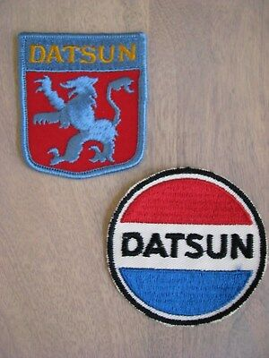 True Vintage Datsun Embroidered Patches Set Of 2~Rare