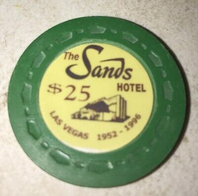 The Sands Hotel $25 Casino Chip Las Vegas Nevada 2.99 Shipping