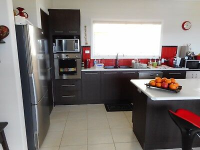 KITCHEN CABINETS, ISLAND, APPLIANCES and DISPLAY CABINET