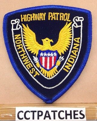 Northwest, Indiana Highway Patrol Stock Eagle (Police) Shoulder Patch In