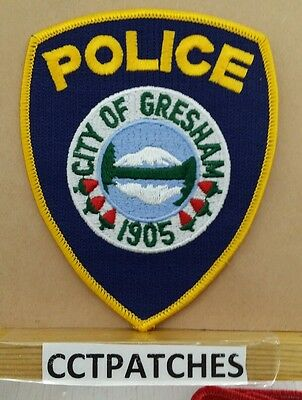 City Of Gresham, Oregon Police Shoulder Patch Or
