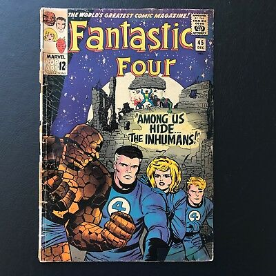 Fantastic Four #45 Collection 1st App. of Inhumans! Stan Lee Marvel Comics