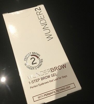 New Wunder2 WunderBrow 1- step Gel Jet Black RRP = £ 19.99
