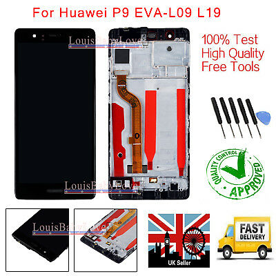 LCD Screen For Huawei P9 Display Touch Digitizer EVA-L09 +Frame Full Replacement