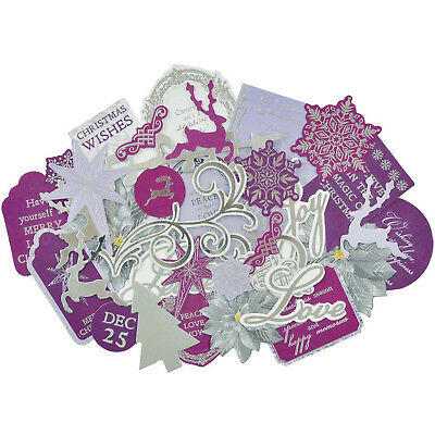 Christmas Jewel Collectables Die Cut Shapes Kaisercraft 35+ Piece Pack