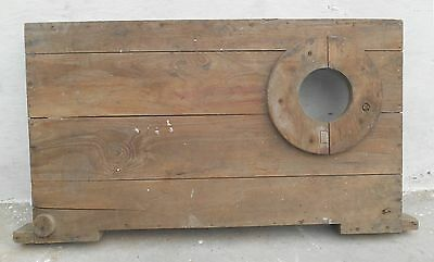 Steampunk wood wooden Mould/mold of Industrial machine décor project my27