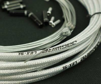 Jagwire Braided Sl Slick Lube Housing Cable Complete Kit Silver Color