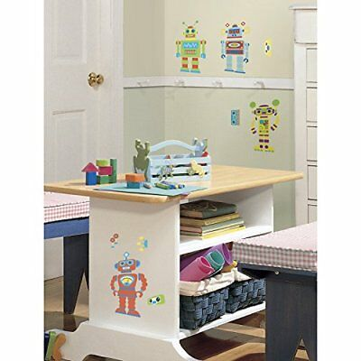 RoomMates RMK1120SCS Build Your Own Robot Peel & Stick Wall Decals
