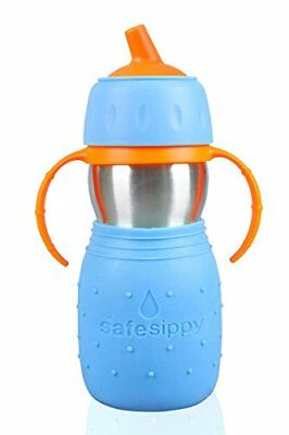Kid Basix Safe Sippy Cup The Original Stainless Steel Sippy Cup Blue 11oz