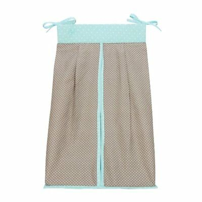 Trend Lab Cocoa Mint Diaper Stacker Taupe