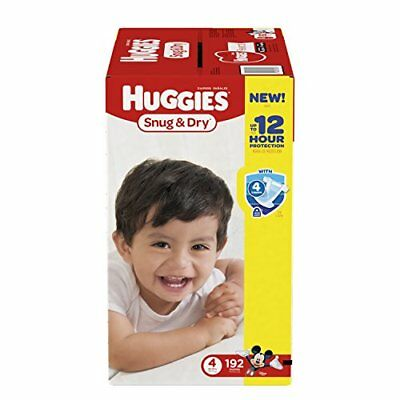 Huggies Snug & Dry Diapers Size 4 192 Count One Month Supply Packaging may vary