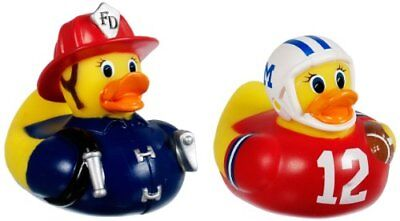 Munchkin White Hot Super Safety Bath Ducky Fireman and Football 2 Count