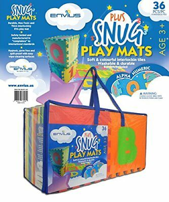 EnviUs Snug Plus Play 36 Pieces Mat Alpha and Numeric Formamide Free Ultra Th...