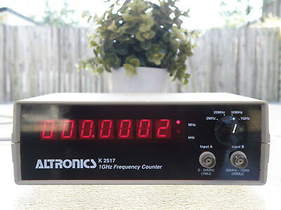70s ALTRONICS K-2517 1-GHz RED LED 4-RANGE FREQUENCY COUNTER METER NICE WORKS A1