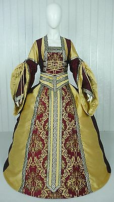 Medieval Renaissance Tudor Wedding Handfasting Larp Gown Dress Costume (22A)