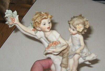 1986 Giuseppe Armani Florence sculpture figurine 1149/p children with cherries