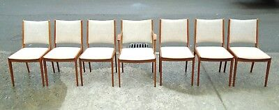 Set Of 7 Danish Teak Udlum Johannes Andersen Chairs    Delivery Available