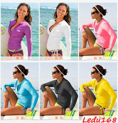 Women Scuba Driving Suit Surfing Swimsuit Long Sleeve Wetsuit Snorkeing SPA Tops