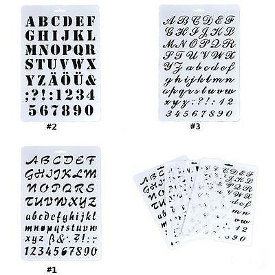 Letter Alphabet Number Scrapbooking Paper Cards Layering Stencils Painting AC