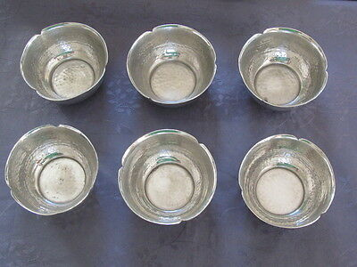Chinese Bowl 6 Bowls Silver Metal Or Rinse Finger