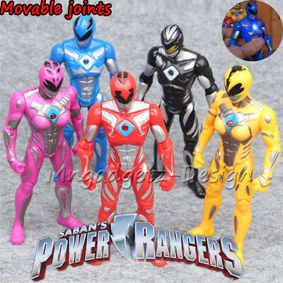 Power Rangers The Movie 2017 New 17cm Action Figures 5pc Set with Light Toy Gift