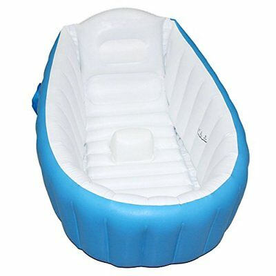 Baby Inflatable Bathtub FLYMEI Portable Infant Toddler Non Slip Bathing Tub T...