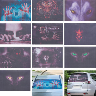 3D Transparent Car Back Rear Window Decal Vinyl Sticker Horror Monsters Zombie
