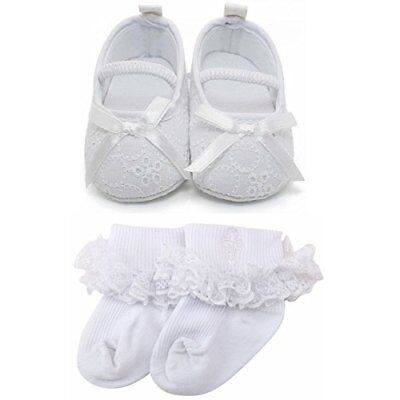 Delebao Baby Girl Infant Satin Mary Jane Baptism Shoes Dance Ballerina Slippe...